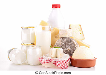 dairy product isolated