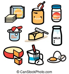 DAIRY PRODUCT - popular dairy product illustrate are...