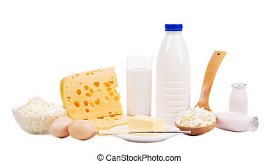 Dairy products and bread.