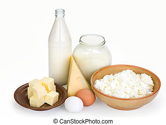 dairy products and eggs - Products containing a calcium...