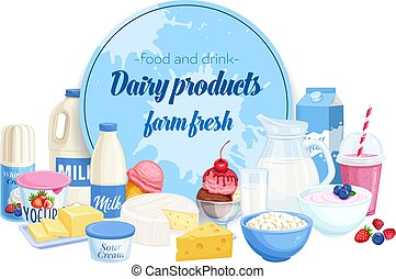 Dairy products banner