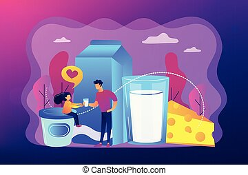 Dairy products concept vector illustration.