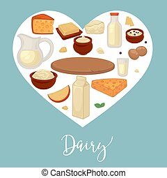 Dairy products food and drink cheese and milk - Milk and...