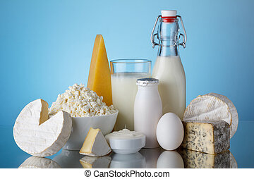 Dairy products, milk, cheese, egg, yogurt, sour cream, ...