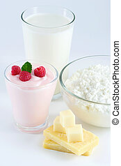 Dairy Products - Milk, yogurt, cheese, cottage cheese