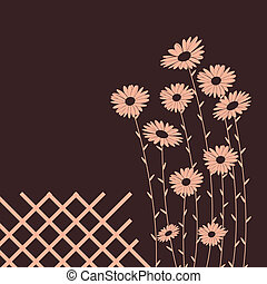 Daisies - card with place for text