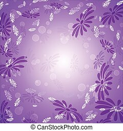 Daisies on a lilac background