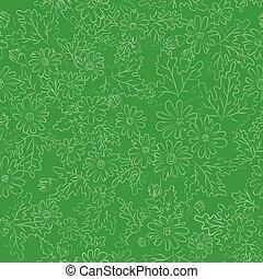 daisy background green