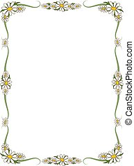 Border of daisies - perfect for scrapbooking or invitations