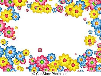 daisy border - decorative floral daisy page border frame...