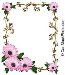 Daisy Border wedding invitation - lavender daisies Image and...