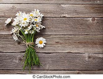 Daisy chamomile flowers bouquet