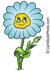 Daisy Flower - Cartoon Illustration, Vector