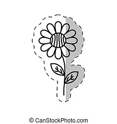 daisy flower decoration cut line