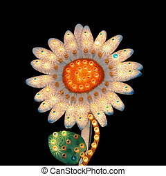daisy flower flashing lights - Sideshow daisy flower display...