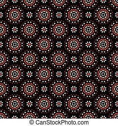 Daisy Flower Geometric Circle Pattern