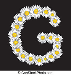Daisy flower letter