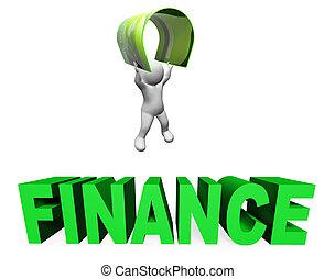 dajcie wiarę kartę, finanse, środki, uważając, ilustracja, i, pieniądze, 3d, przedstawienie