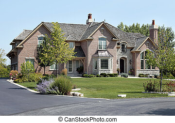 dak, ceder, luxe, schudden, thuis, baksteen