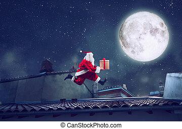 dak, claus, looppas, kado, kerstman, vasten