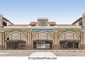 dakar, ferrocarril, estación, abandonado