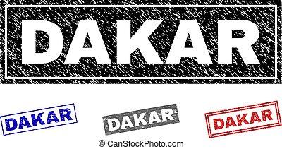 dakar, timbres, grunge, rectangle, textured