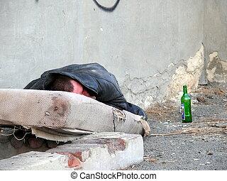 dakloos, alcoholhoudend