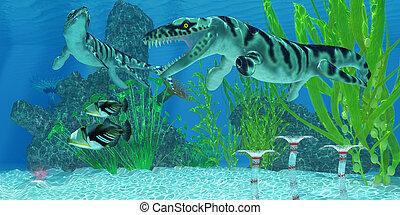 Dakosaurus Marine Habitat