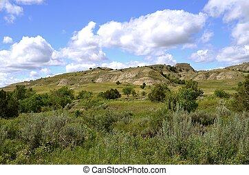 dakota, badlands, norte