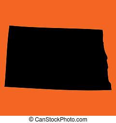 dakota, naranja, norte, plano de fondo, ilustración