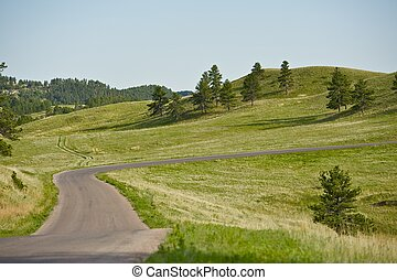 dakota, paysage, sud
