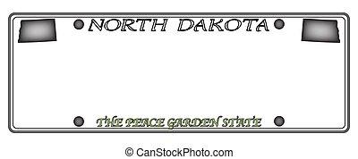 dakota, plaque, nord, licence