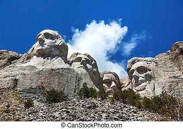 dakota, rushmore, monter, sud, monument
