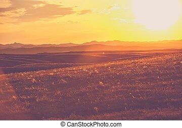 dakota, sud, prairies