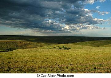dakota, terre, ouvert, sud