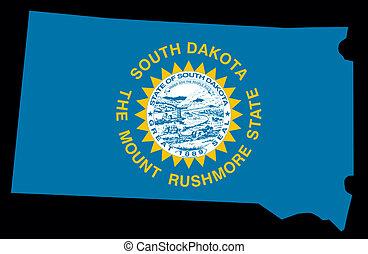 dakota, tillstånd, syd