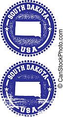 dakota, timbres, sud, usa