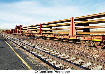 dakota, tren, norte, largo