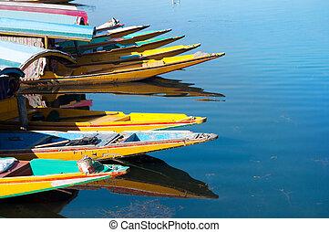 DAL, barcos,  Srinagar, lago
