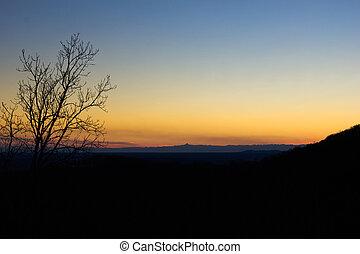 dal, solnedgång