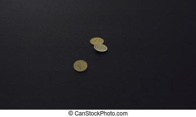dalende muntstukken