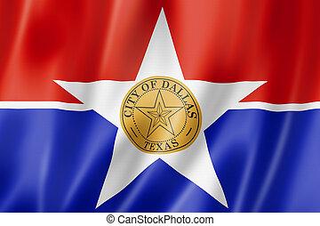 Dallas city flag, Texas, USA