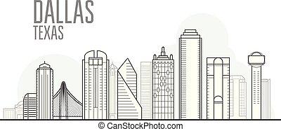 Dallas city skyline - cityscape and landmarks of Dallas, Texas