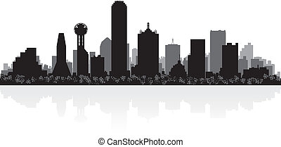 Dallas city skyline silhouette - Dallas USA city skyline...