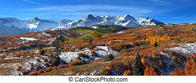Panoramic view of scenic Dallas divide landscape in Colorado