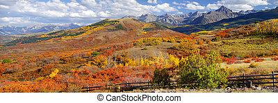 Dallas divide - Panoramic view of scenic autumn landscape...