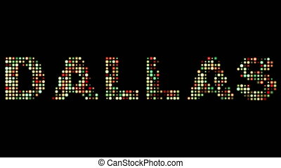Dallas led text