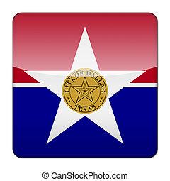 Dallas logo icon app flag button of Texas