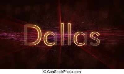 Dallas - Shiny looping city name text animation - Dallas -...