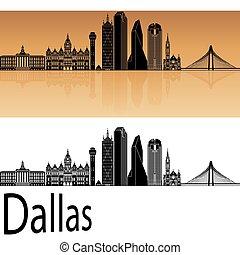 Dallas skyline in orange